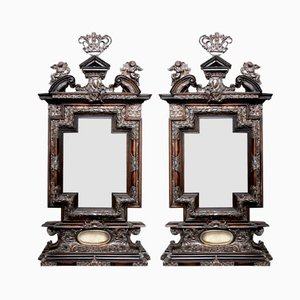 Antique Baroque Italian Mirrors, Set of 2