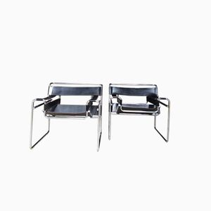 Vintage Wassily Chairs by Marcel Breuer, 1980s, Set of 2