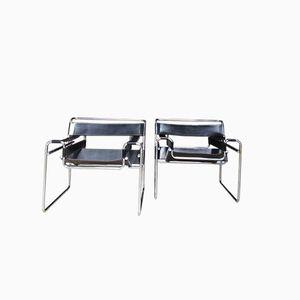 Vintage Wassily Stühle von Marcel Breuer, 1980er, 2er Set
