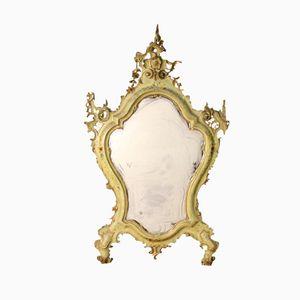 Specchio veneziano antico dorato, fine XIX secolo