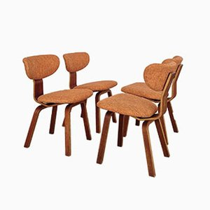 Dutch Dining Chairs by Cees Braakman for Pastoe, 1950s, Set of 4