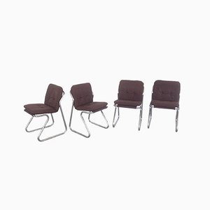 Space Age Dining Chairs, 1970s, Set of 4