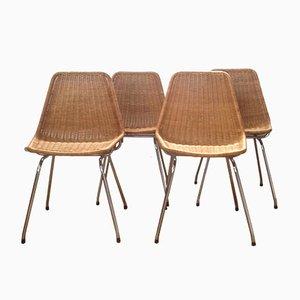 Niederländische Esszimmerstühle von Rohé, 1964, 4er Set
