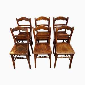 Art Nouveau Dining Chairs from Luterma, 1910s, Set of 6
