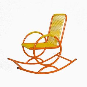 Italienischer Kinderschaukelstuhl in Orange