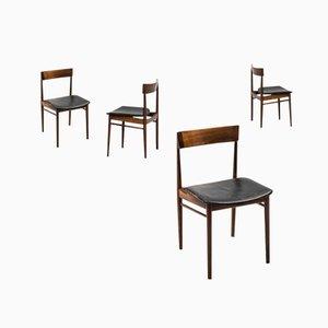 Mid-Century Modell 39 Esszimmerstühle von Henry Rosengren Hansen für Brande Møbelfabrik, 4er Set