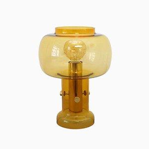 Lámpara de mesa vintage de vidrio translúcido