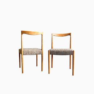 Danish Oak Dining Chairs, 1960s, Set of 4
