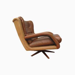 Sillón vintage bicolor de cuero, años 60