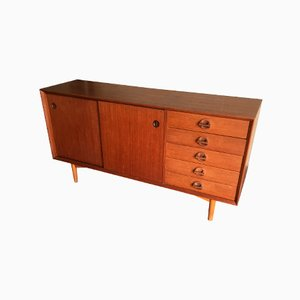 Vintage Sideboard with Sliding Doors, 1970s