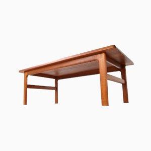 Mesa de centro No. 38 de teca de Niels Bach Møbelfabrik, años 70