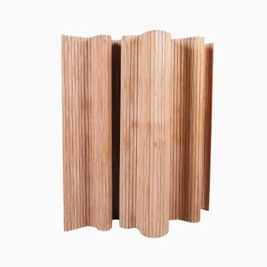 Brown Pine Screen 100 by Alvar Aalto for Artek