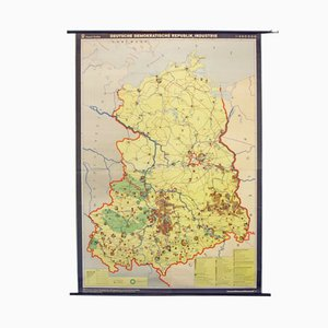 Mapa escolar de la industria en Alemania del Este