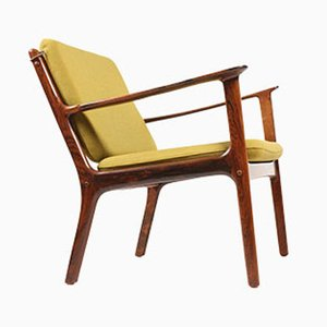 Mid-Century OJ112 Rosewood Armchair by Ole Wanscher for P. Jeppesens