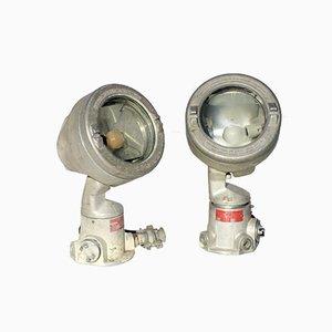 Lampade di segnalazione vintage industriale, set di 2