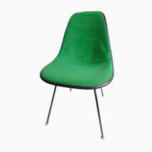 Silla auxiliar vintage verde de Charles & Ray Eames para Herman Miller