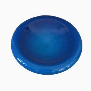 Cenicero en azul de vidrio opalino de Vincenzo Nason