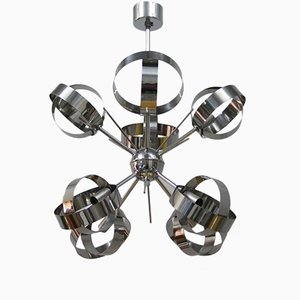 Vintage Steel Sputnik Pendant with 8 Lights