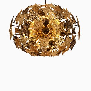 Large Brass and Glass Louis Vuitton Sputnik Chandelier from Barovier & Toso