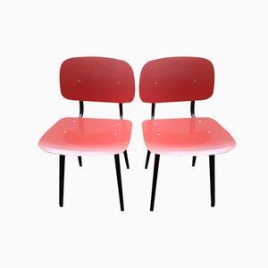 Mid-Century Revolt Stühle in Dunkel Pink von Friso Kramer für Ahrend de Cirkel, 2er Set
