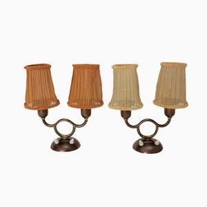 Lámparas de mesa vienesas de Josef Frank, años 30. Juego de 2