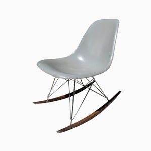 Rocking Chair Grise par Charles & Ray Eames pour Herman Miller, 1960s