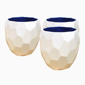 Vasos poligonales de Sander Lorier para Studio Lorier. Juego de 3