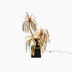 French Palm Tree Lamp from Maison Jansen, 1970s