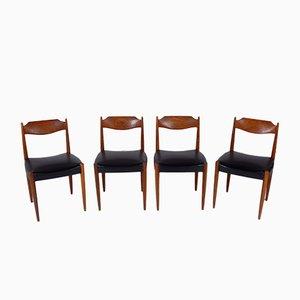 Dänische Esszimmerstühle aus Palisander, 4er Set