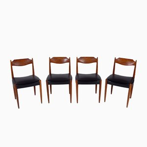 Danish Rosewood Dining Chairs, Set of 4