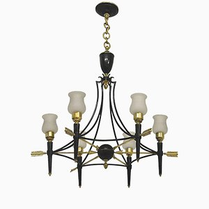 French Empire Style Chandelier by Maison Jansen, 1940