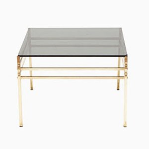 Table d'Appoint Style Hollywood Regency en Laiton