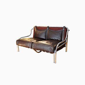 Zwei-Sitzer Stringa Sofa von Gae Aulenti für Poltronova, 1972