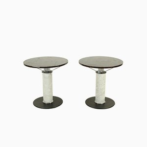 Italian Marble Console Tables, 1980s, Set of 2