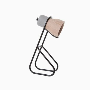 Cement Wood Desk Lamp by Decha Archjananun