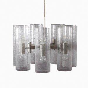Lámpara colgante de vidrio burbuja de Doria Leuchten, años 70