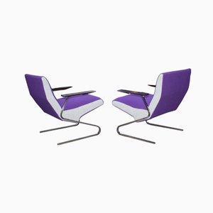 Cantilever Stühle von Georges Vanrijk für Beaufort, 1955, 2er Set