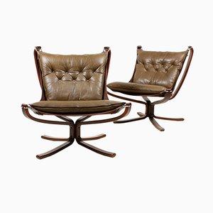 Falcon Stühle von Sigurd Resell für Vatne, 1970er, 2er Set