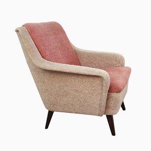 Deutscher Sessel in 2 Rosa Farbklängen, 1950er