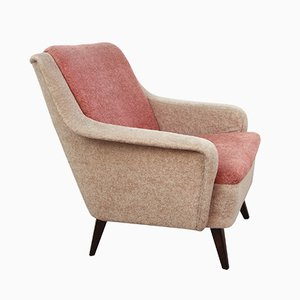 Two-Tone German Pink Armchair, 1950s
