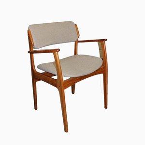 Silla modelo 49 danesa Mid-Century de Erik Buch para O.D. Mobler AS, años 60