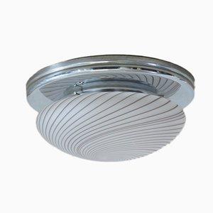Italienische Vintage Deckenlampe mit Spiralmuster
