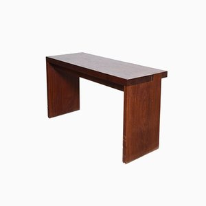 Belgian Mahogany Console Table or Desk from De Coene, 1959