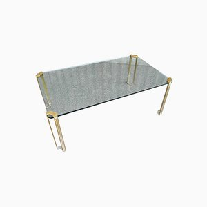 Glass & Brass Coffee Table by Peter Ghyczy, 1979