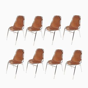 French Les Arcs Chairs by Charlotte Perriand, 1970s, Set of 8
