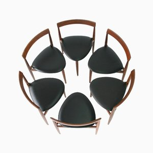 Chaises de Salon Mid-Century en Teck par Hans Olsen pour Frem Røjle, Danemark, Set de 6