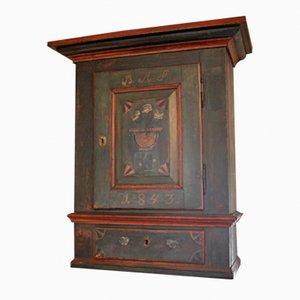 Danish Pine Wall Cabinet, 1843