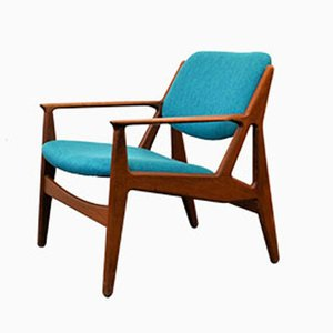 Danish Teak Lounge Chair by Arne Vodder for Vamo, 1950s