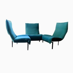 Vintage Veranda Three Seater Sofa by Vico Magistretti for Cassina