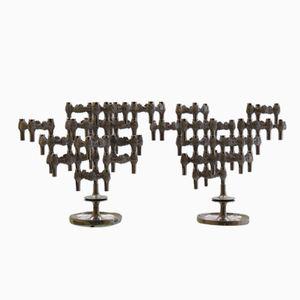 Candélabres Variomaster Brutalistes par Quist, Allemagne, 1960s, Set de 2